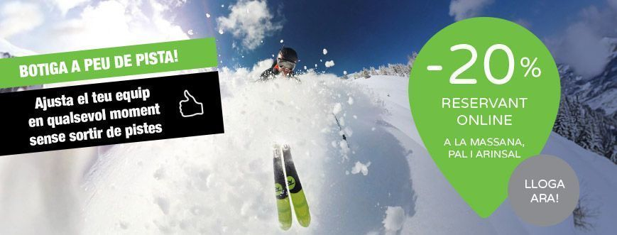 lloguer esquís snow peu de pistes