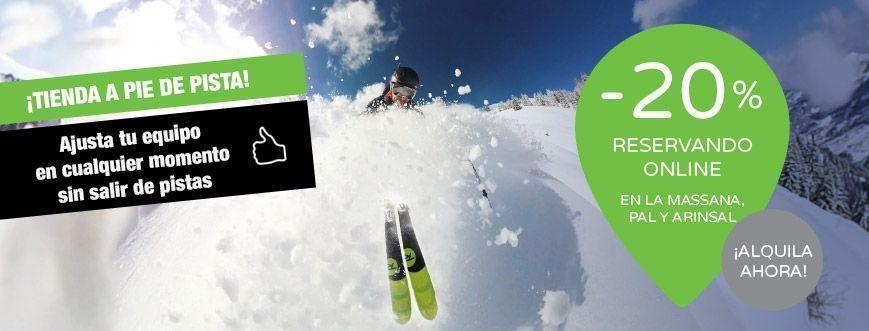 alquiler esquís snow pie de pistas