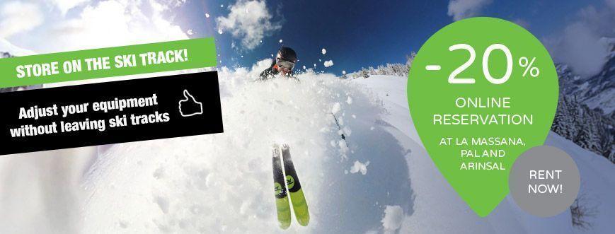 store ski snow track