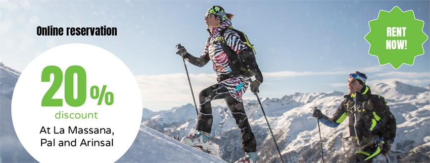 rent online skis vallnord andorra